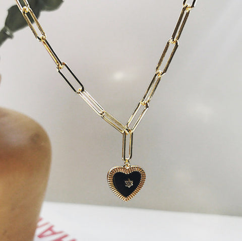 The Mimi Heart Link necklace
