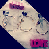 The Love knot initial cuff