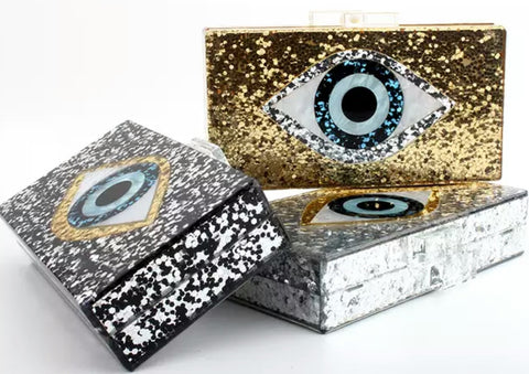 The Glitter Eye Clutch (Pre Order)