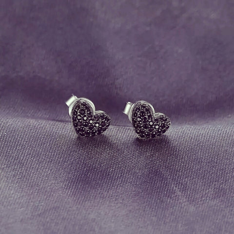 The Blk Heart stud earrings