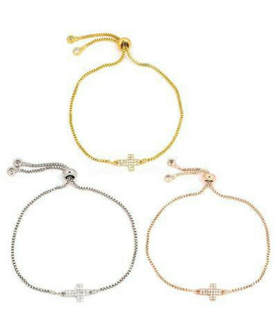 The Sparkle cross bracelet
