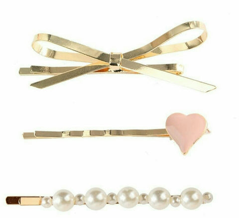 The Blushing bow bobby pins