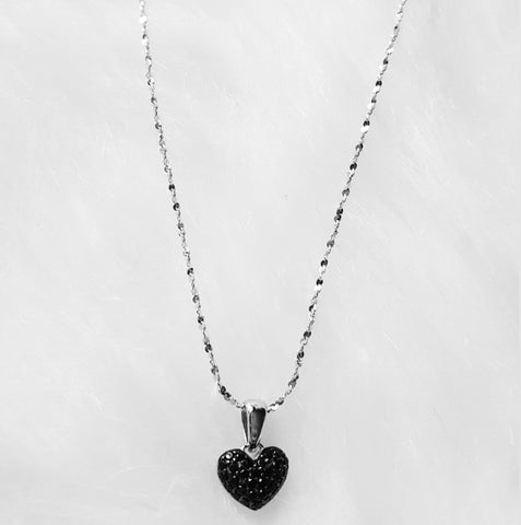The Blk Heart Pendant necklace