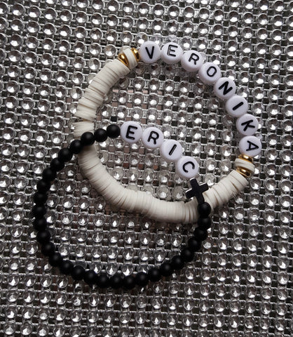 The Initial/word  bead bracelet (pre order)