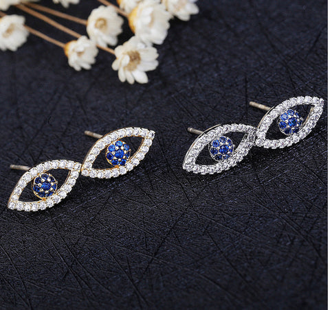 The Evil eye stud earrings