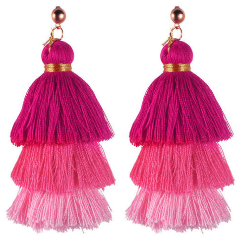 The Ombre tassel earring