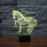 3D Illusion Horse Shaped Night Lamp