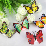 LED 3D Butterfly Stickers