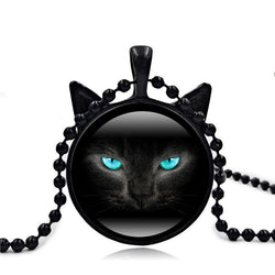 Black Pendant Cat Necklace