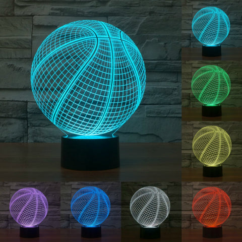 Basketball 3D Atmosphere Lamp 7 Color Changing