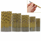 50 pcs High Speed Steel Drill Bit Set