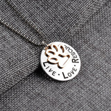 Live Love Rescue Cat Paw Necklace