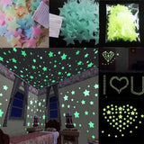 Glow In The Dark 3D Luminous Star Decorations