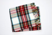 Perfect Blanket White Tartan Plaid
