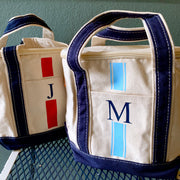 Insulated Lunch Cooler Boat Tote Vinyl Monogram Stripes
