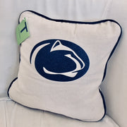 Vinyl Penn State Small Canvas Pillow Ivory