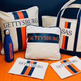 College Stripe Canvas Pillow Vinyl Boat Tote Cosmetic Case Water Bottle