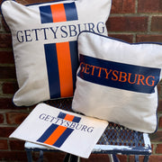 College Stripe Canvas Pillow and Zip Top Cosmetic Case
