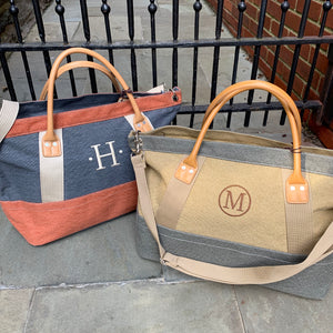 Embroidered Monogram Denim Carry-on