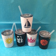 Insulated Kids Cup with Straw Vinyl
