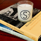 Vinyl Monogram Candle Nautical Scent Gift Boxed