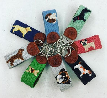 Good Threads Needlepoint Keychain Dogs