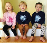 Toddler Sweatshirt Vinyl Monogram