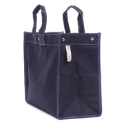 Embroidered Monogram Utility Canvas Field Bag Navy