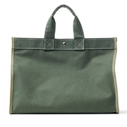 Embroidered Monogram Utility Canvas Field Bag Olive