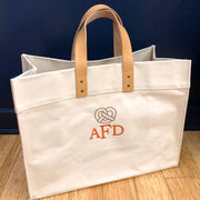 Embroidered Philly Pretzel Leather Handle Advantage Tote