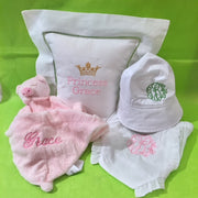 Embroidered Monogram Diaper Cover Animal Luvie Linen Square Pillow Baby Bucket Hat