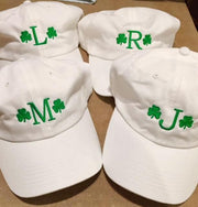 Embroidered Monogram Baseball Cap Hat Irish