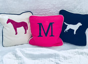 Vinyl Monogram Small Canvas Pillow