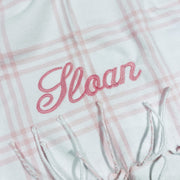 Embroidered Monogram Baby Flannel Blanket