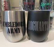 Vinyl Monogram Insulated Wine Tumbler Harry Potter Dumbledore Hogwarts