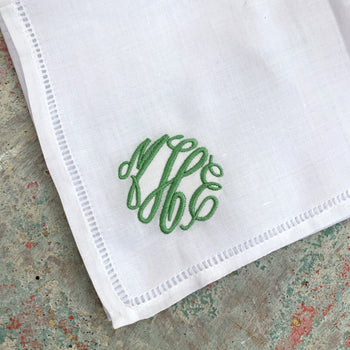 Embroidered Monogram Ladies Handkerchief
