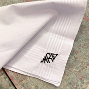 Embroidered Monogram Mens Handkerchief