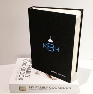 Vinyl Monogram My Family Cookbook Recipe Book
