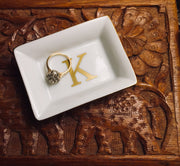 Pretty Little Jewelry Candy Dish initial monogram date