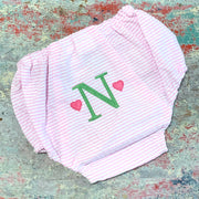 Embroidered Monogram Diaper Cover