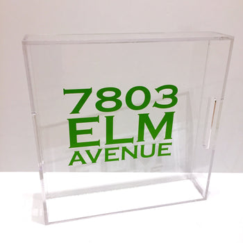 Acrylic Square Tray with Vinyl