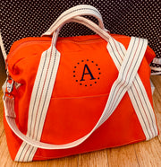 Embroidered Monogram Utility Canvas A-Frame Duffel