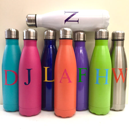 Vinyl Monogram Insulated Water Bottle