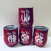 Vinyl Monogram Insulated Wine Tumbler