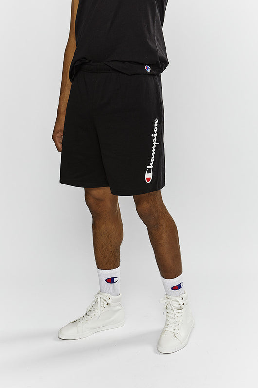 Champion // Script Jersey Shorts in Black