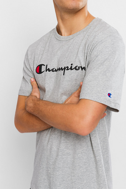 Champion // Script tee in Oxford Heather