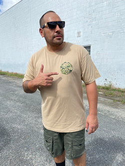 Urban Peepz // All City x OG Woodland Camo Tee in Tan