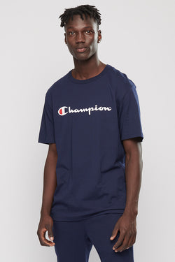 Champion // Script tee in Navy