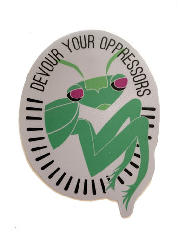 Devour Your Oppressors Vinyl Sticker