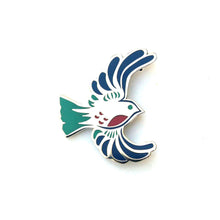 Bird Enamel Pin - Silver